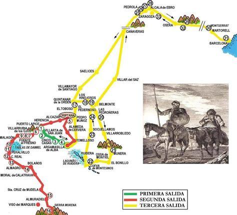 las tres salidas de don quijote la ruta de don quijote lclcarmen3
