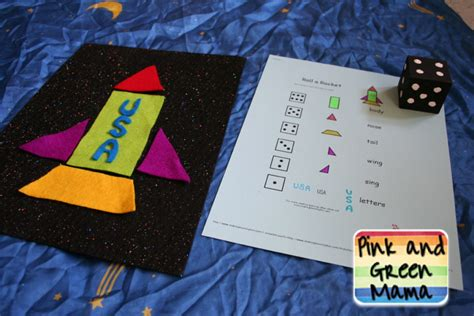 outer space crafts for pink and green solar system projects outer space