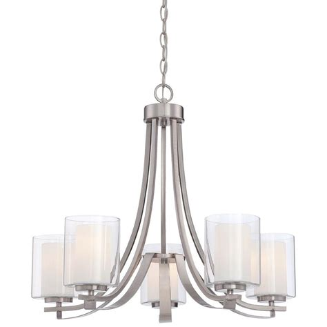 minka lavery parsons studio 5 light brushed nickel