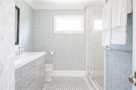 light blue and gray bathroom blue and gray bathroom with light gray washstand and