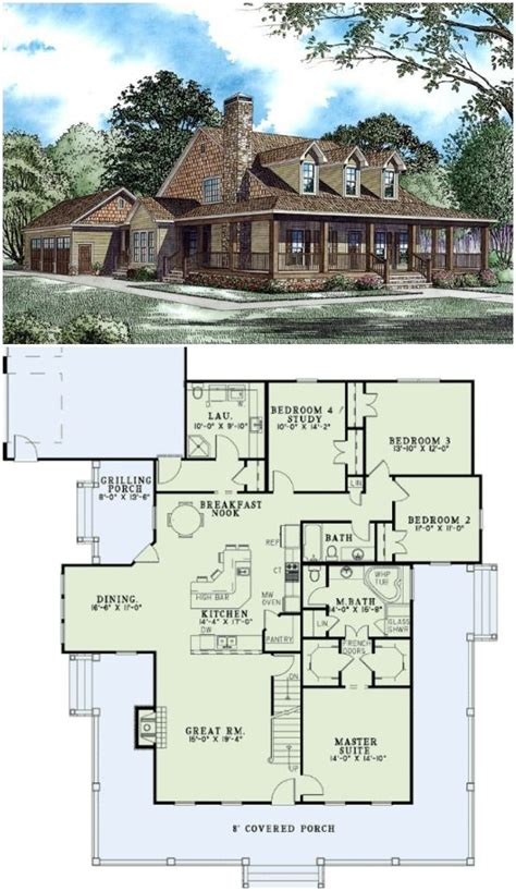 square house plans with wrap around porch country farmhouse house plan 62207 hus och house