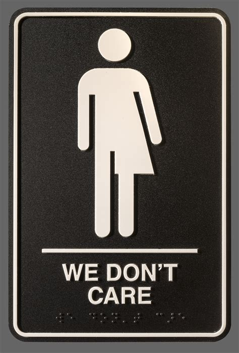 Gender Neutral Bathroom Signs by Artist Hopes To Flush Binaries With Gender Neutral