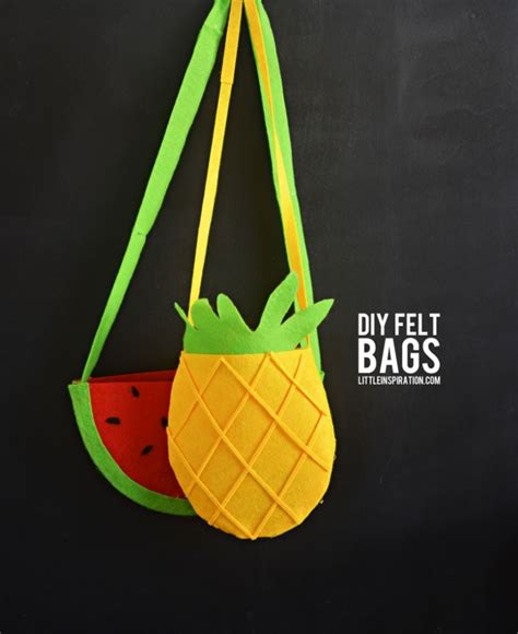 felt crafts for no sew diy watermelon and pineapple felt bags tutorial no sew