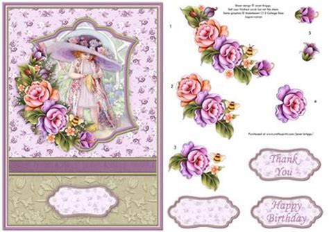 free craft downloads decoupage big hat card topper with floral decoupage cup431178