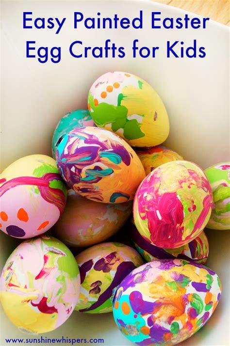 easter egg crafts for easy painted easter egg crafts for