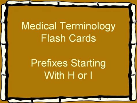 how to make terminology flash cards terminology flash cards prefixes healthcare
