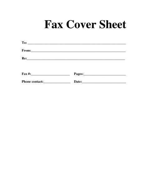 letter cover sheet free fax cover sheet template printable pdf word example