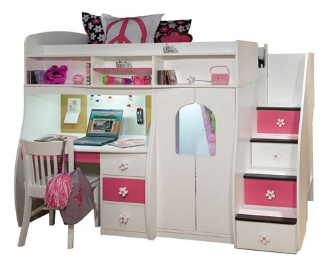 bunk bed with stairs and desk loft bed with desk and stairs home decorating ideas