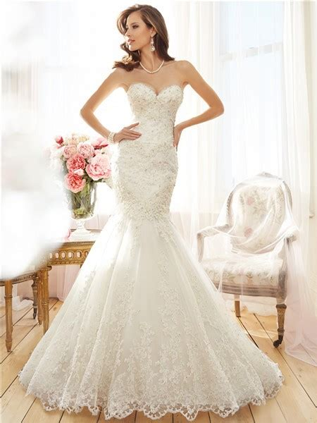 sparkly beaded wedding dresses trumpet mermaid strapless sweetheart lace sparkly beaded