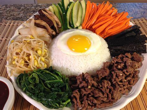 foods recipes how to cook bibimbap rice vegetables korean food recipes