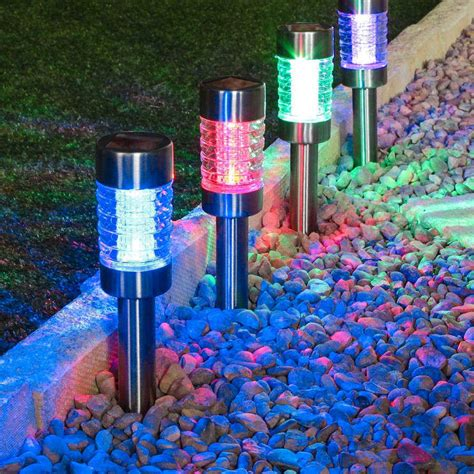 solar stake lights outdoor outdoor solar stake lights meideas