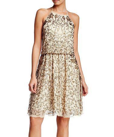 chagne beaded dress this chagne botanical beaded t back dress on