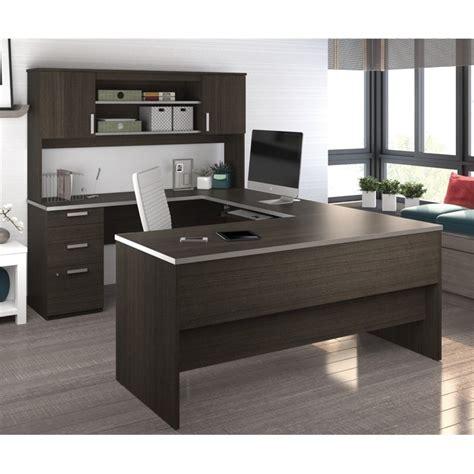 bestar u shaped desk bestar ridgeley u shaped desk in chocolate 52414 79