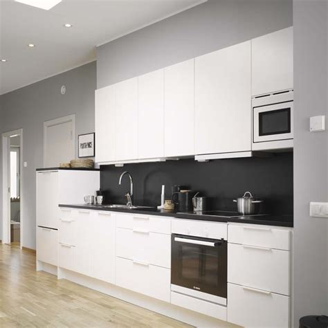 black and white kitchens decordots modern white kitchen with black wall