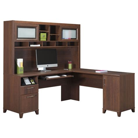 office desk with hutch l shaped store your all office items through computer desk with