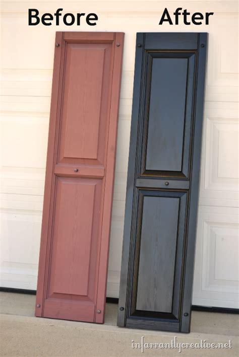 spray painting exterior doors how to paint vinyl shutters infarrantly creative