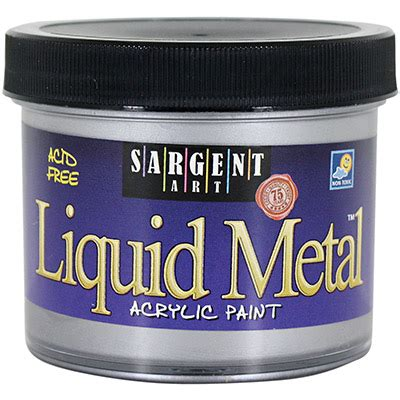 acrylic paint mixing silver 4oz liquid metal acrylic paint silver sargent