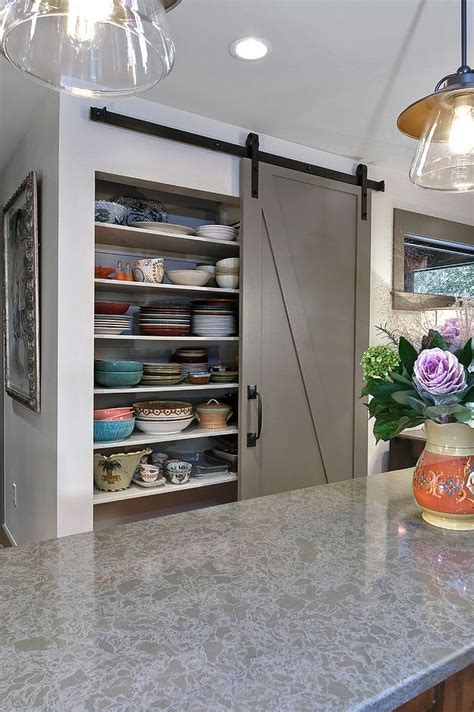 barn door for pantry 25 trendy kitchens that unleash the of sliding barn