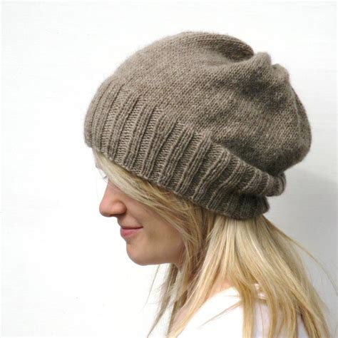patterns for knitted hats you to see dk eco slouchy hat knitting pattern by