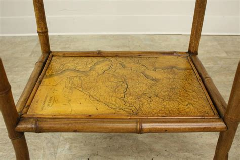 decoupage end table antique bamboo decoupage side table with world maps for