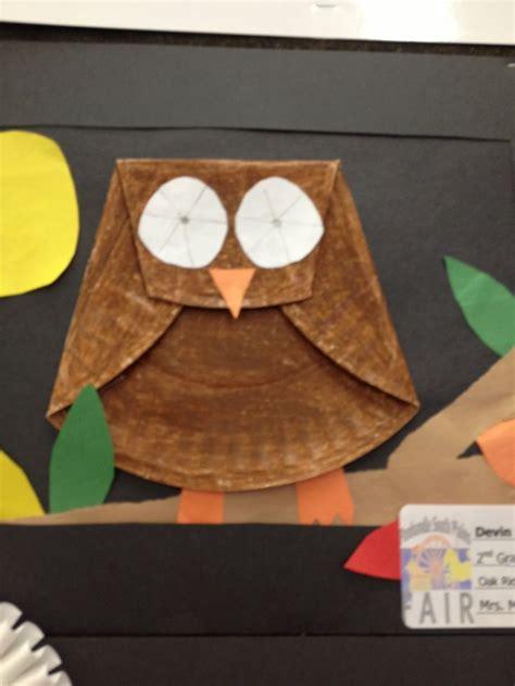 paper plate owl craft paper plate owl fall preschool crafts