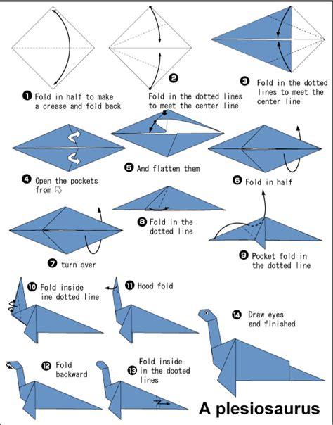Origami Plesiosaurus Or Loch Ness Paper Parade