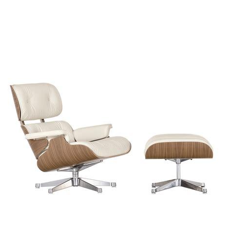 Vitra Eames Lounge Chair Replica by Vitra Eames Lounge Chair Ottoman Walnut White
