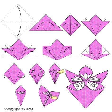 how to make a paper flower origami step by step flower animated origami how to make origami