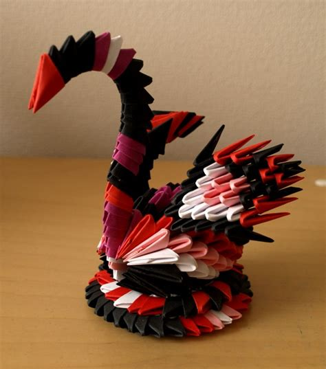 3d origami small swan small colorful swan 3d origami by denierim on deviantart