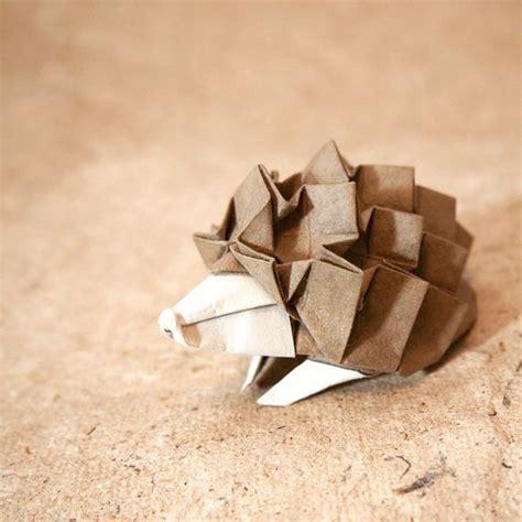 origami hedgehog paper crafts
