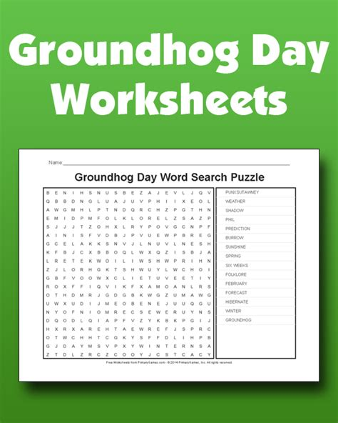 groundhog day play groundhog day worksheets primarygames play free