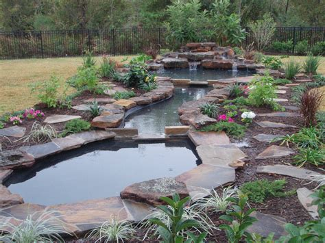 backyard pond ideas with waterfall pond landscaping home 187 garden ideas 187 large