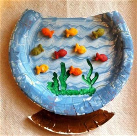 paper plate aquarium craft paper plate animal craft idea for crafts and