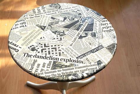 newspaper decoupage the daily scoop molliepop