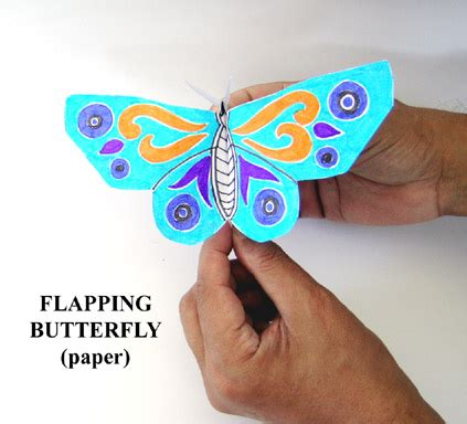 flapping butterfly origami toys from trash