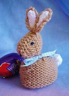 knitted easter egg covers ravelry babs bobby easter bunny creme egg cover cosy