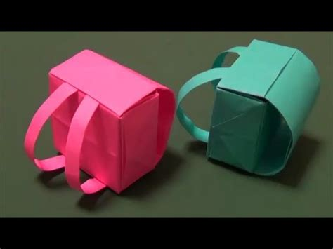 ランドセル 立体折り紙 Quot Backpack Quot Origami