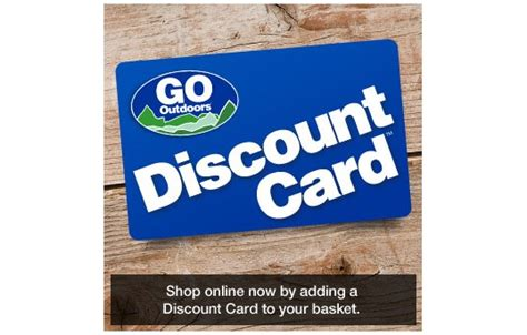discount card supplies go outdoors discount card 163 5 a year go outdoors