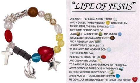 story of jesus bracelet what do the of jesus colorful stretch charm bracelet