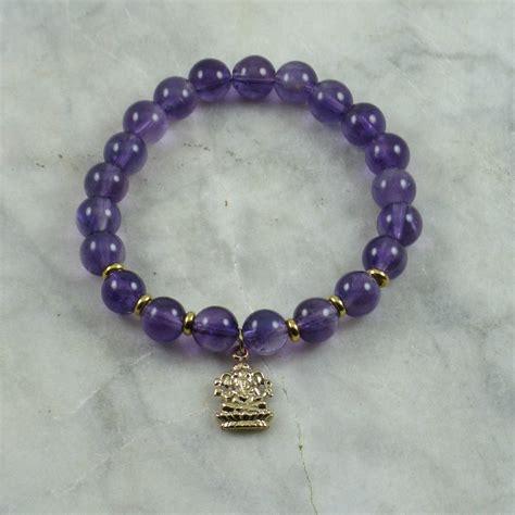 mala bead bracelet ganesha mala bracelet 21 amethyst mala in