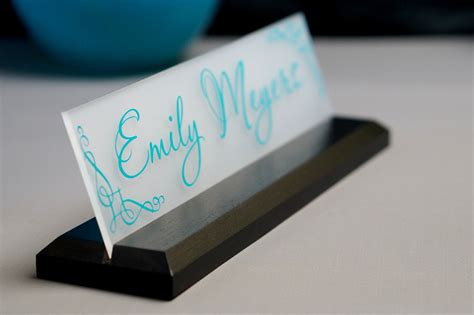 desk name plate office supply personalized sign gift