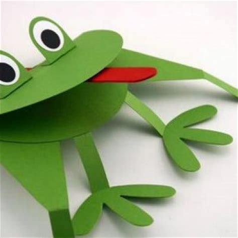 frog craft project crafts puppet crafts