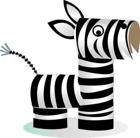 zebra craft for diy animal craft ideas with toilet paper rolls home