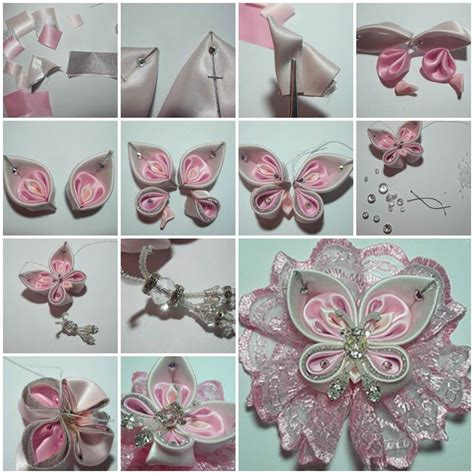 ribbon craft projects diy beautiful satin ribbon butterfly satin butterfly