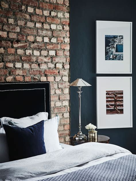 exposed brick bedroom exposed brick in the bedroom small cool black in