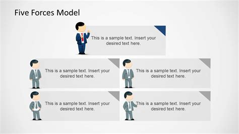 5 forces model template for powerpoint slidemodel