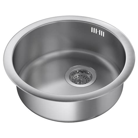 bowl kitchen sinks boholmen inset sink 1 bowl stainless steel 45x15 cm ikea