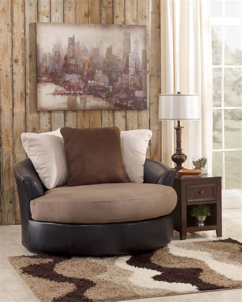 masoli swivel chair masoli mocha oversized swivel accent chair from
