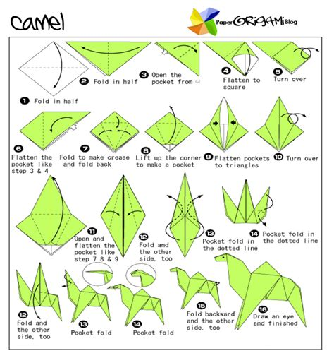 origami animals diagrams animals origami camel paper origami guide
