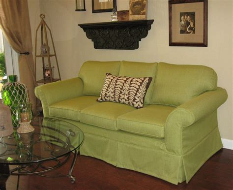 green sofa slipcover custom creations